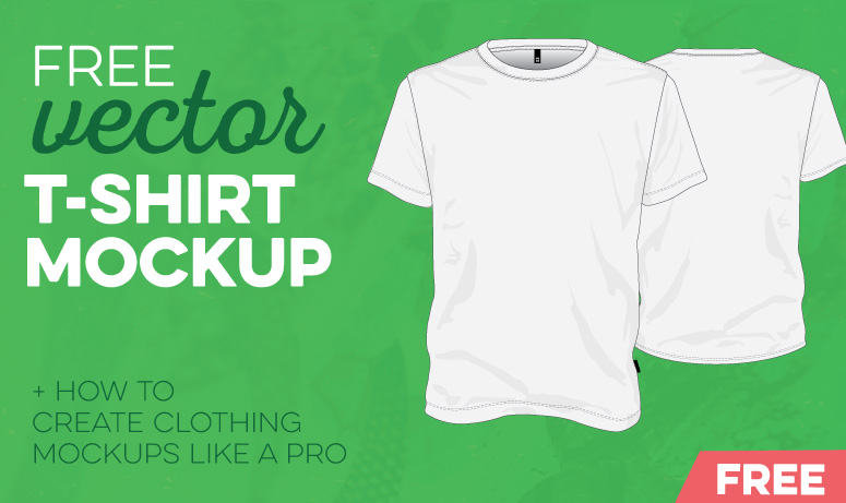 free vector t shirt template illustrator - Free T Shirt Mockup Template