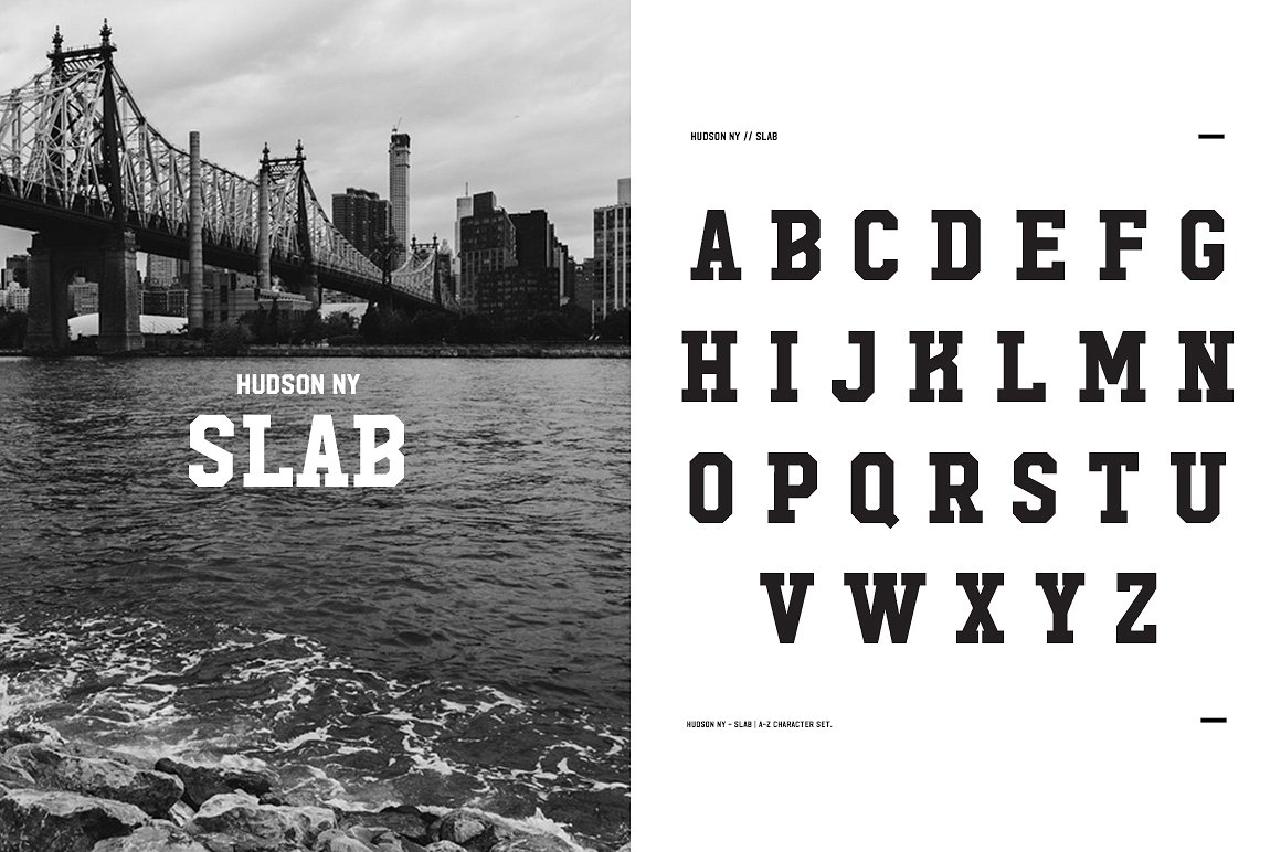 Hudson NY Slab college font download free