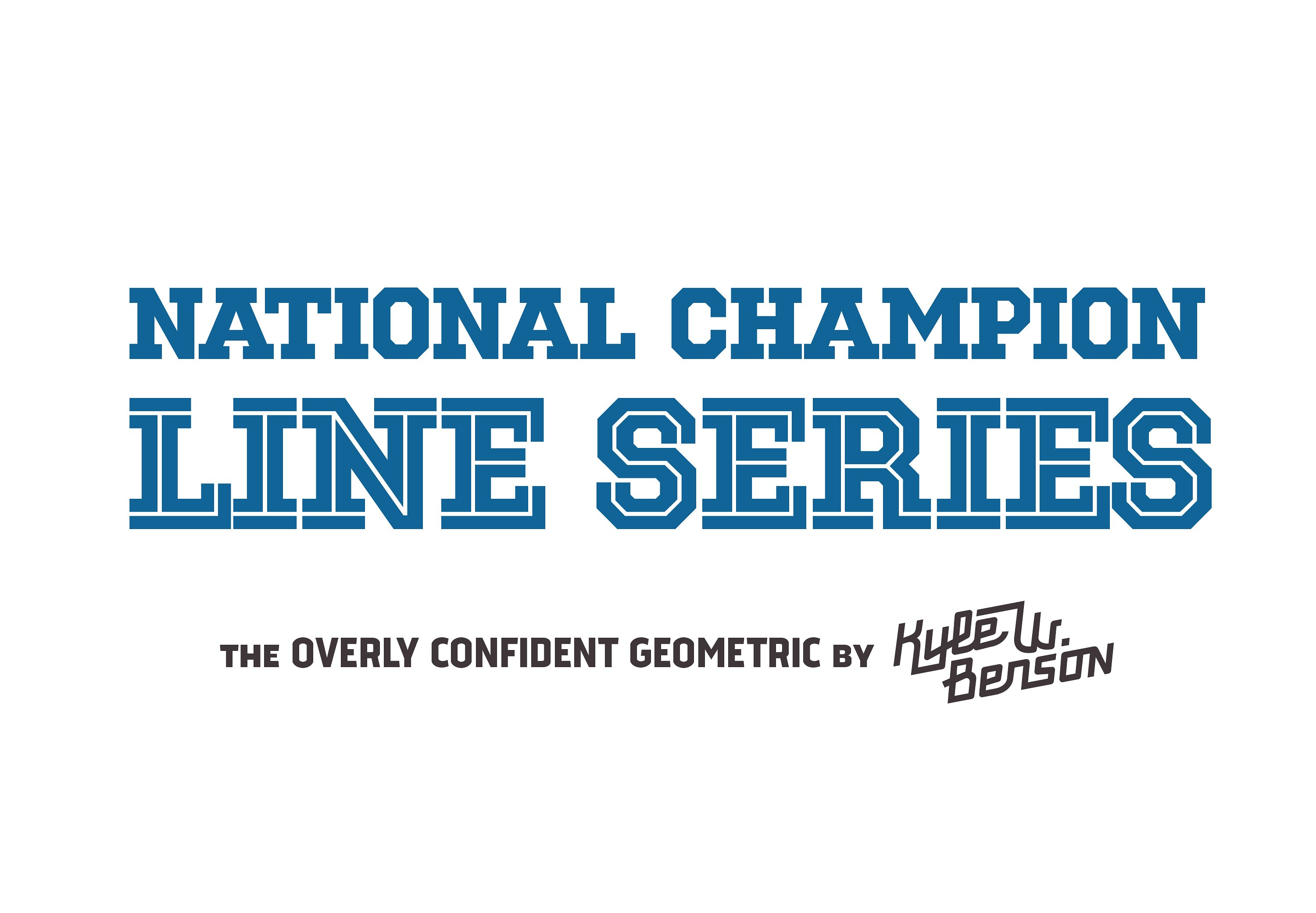national champion line specs college font download