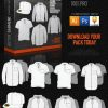 Vector garment mockup templates flexifit hat polo hood jumper shirt