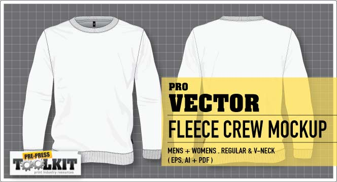 unisex vector fleece crew jumper mockup template