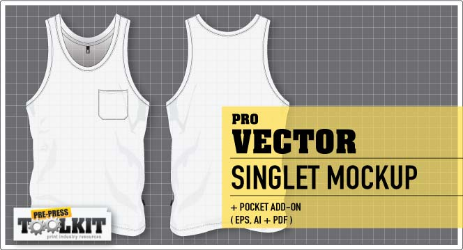 best vector singlet garment mockup template