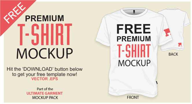 free vector t shirt mockup template download - Free T Shirt Mockup Template