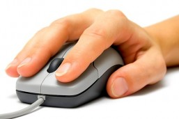 hand on mouse click