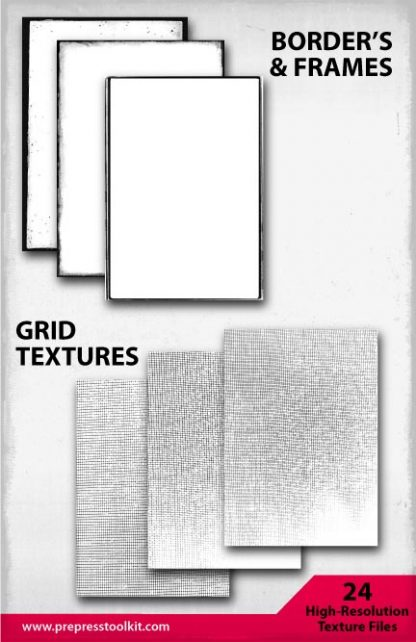 Textures T-shirt Design Grid Border Screen Print