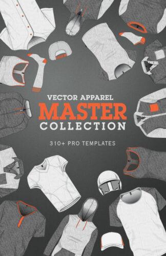 Vector Apparel Mockup Master Collection illustrator templates