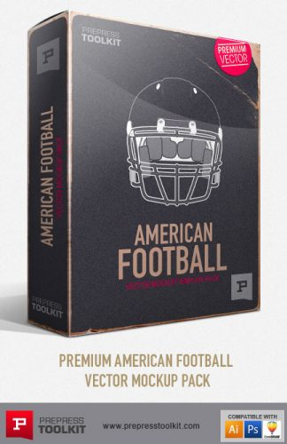 America Football Vector Mockup Templates - Sports Uniform