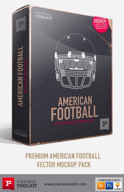 America Football Vector Mockup Templates - Sports Uniform
