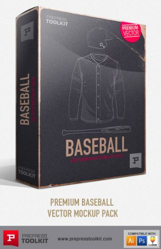Baseball Apparel Vector Mockup Templates Premium Pack