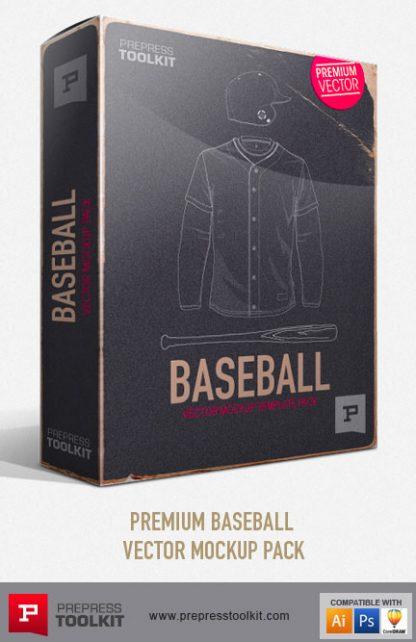 Baseball Apparel Vector Mockup Templates Premium Pack
