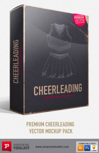 Cheerleading uniform Vector Mockup Templates - tops and skirts