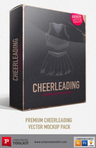 Cheerleading uniform Vector Mockup Templates - tops and skirts