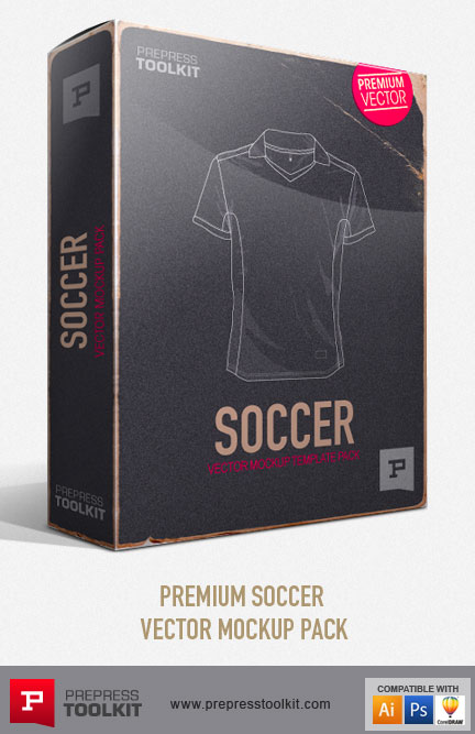 Football Soccer uniform Vector Mockup Templates
