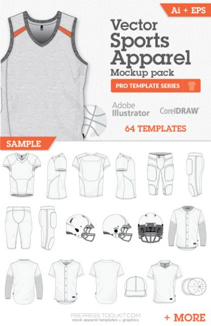 Vector Sports Apparel mockup templates illustrator corel 01