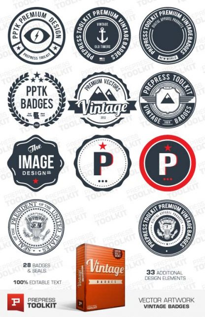 Vector Vintage Badges Seals Retro Download 1