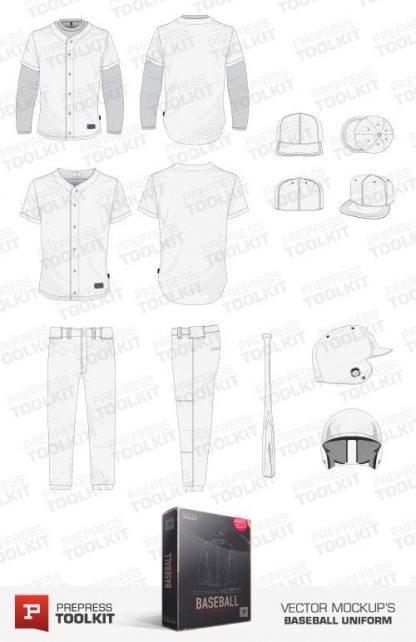 Vector baseball uniform mockup template collection