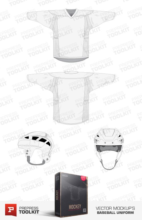 hockey apparel vector mockup template pack