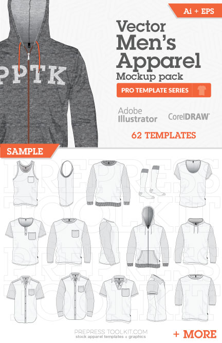 Mens Vector Apparel Mockup Templates Illustrator Corel 01