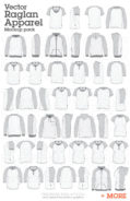 mens womens raglan garment templates 002