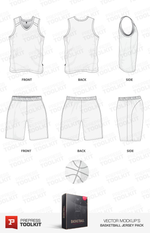 Basketball Jersey and Basketball Uniform Vector mockup template pack
