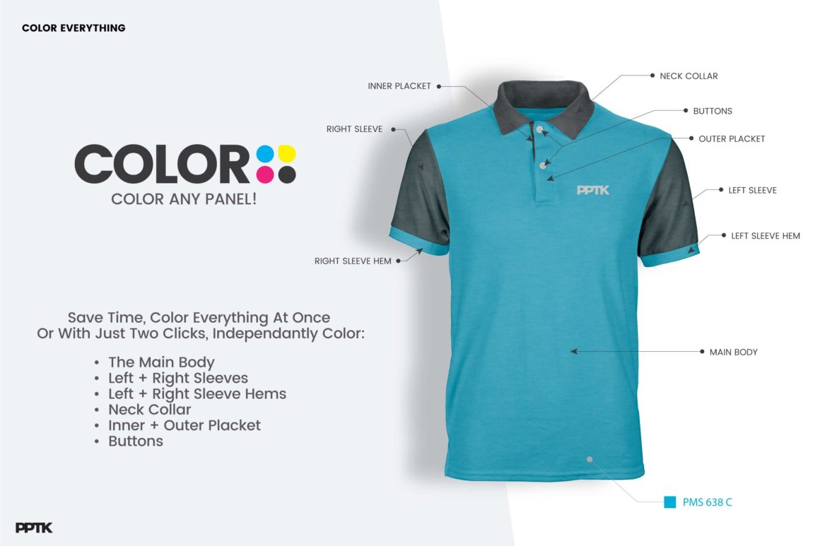 Photoshop polo shirt template image collections template for Polo shirt design template