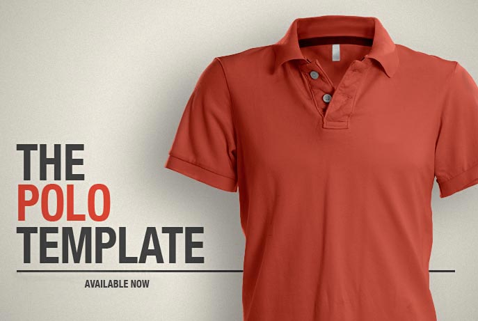 the polo shirt template PSD
