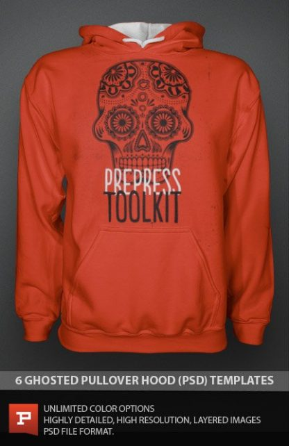 Ghosted Photorealistic Pullover Hoodie Template PSD Photoshop
