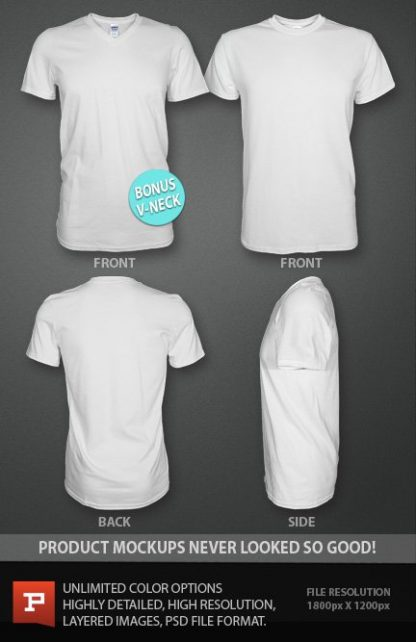 Ghosted T-Shirt template PSD photo-real mockup