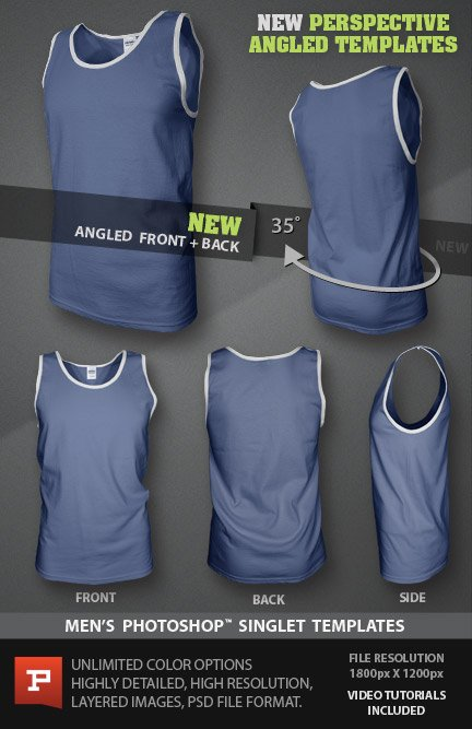 Mens ghosted Singlet mockup template photoshop file new