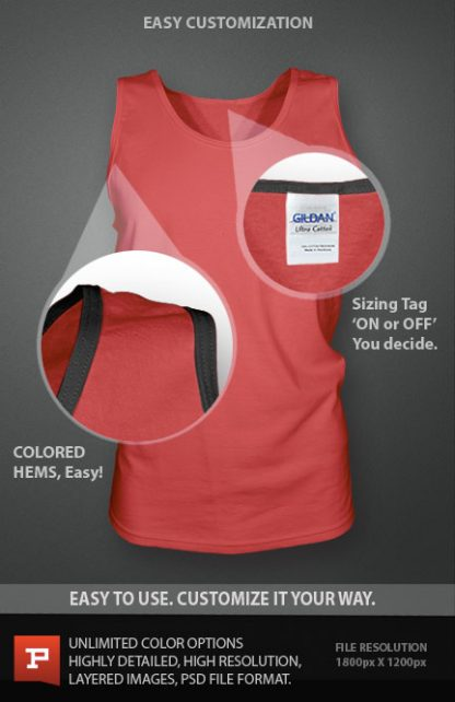 custom mens singlet template photoshop psd download