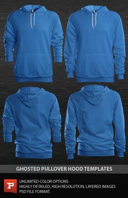 women's photorealistic raglan pullover hoodie photoshop template