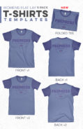 Womens Flat Lay T-Shirt Templates Photoshop