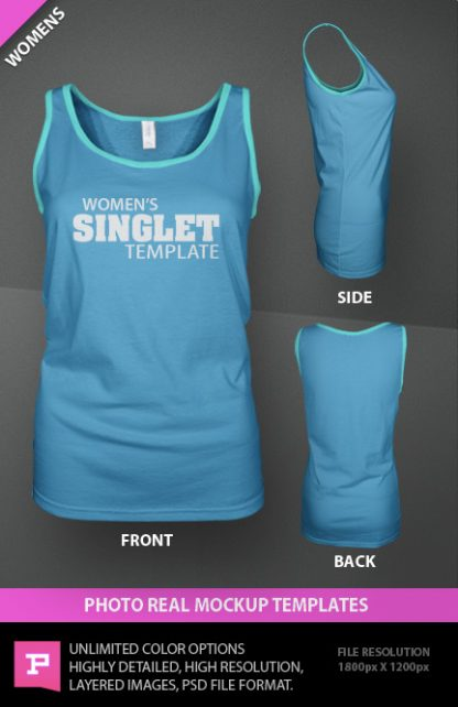 womens ghosted singlet templates photoshop psd download