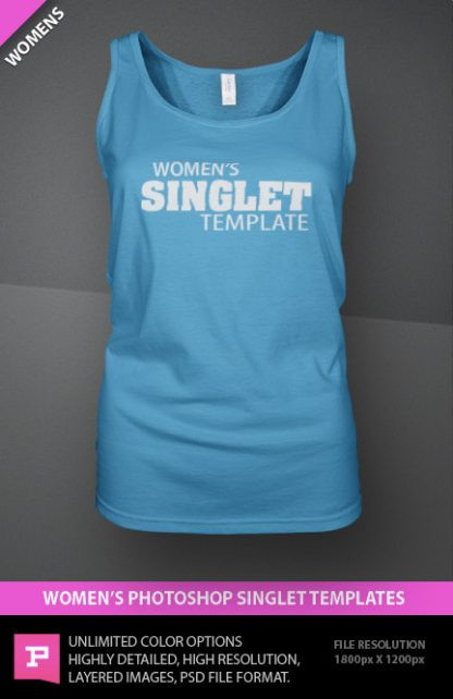 womens singlet template photoshop psd file