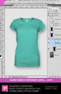 womens v-neck t-shirt template mockup layered photoshop file