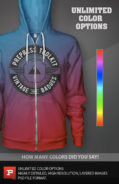 zip up hoodie template download custom color psd
