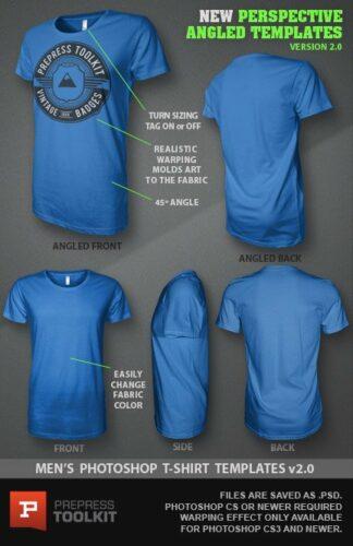 Mens T-Shirt Template Mockup Photoshop File version2