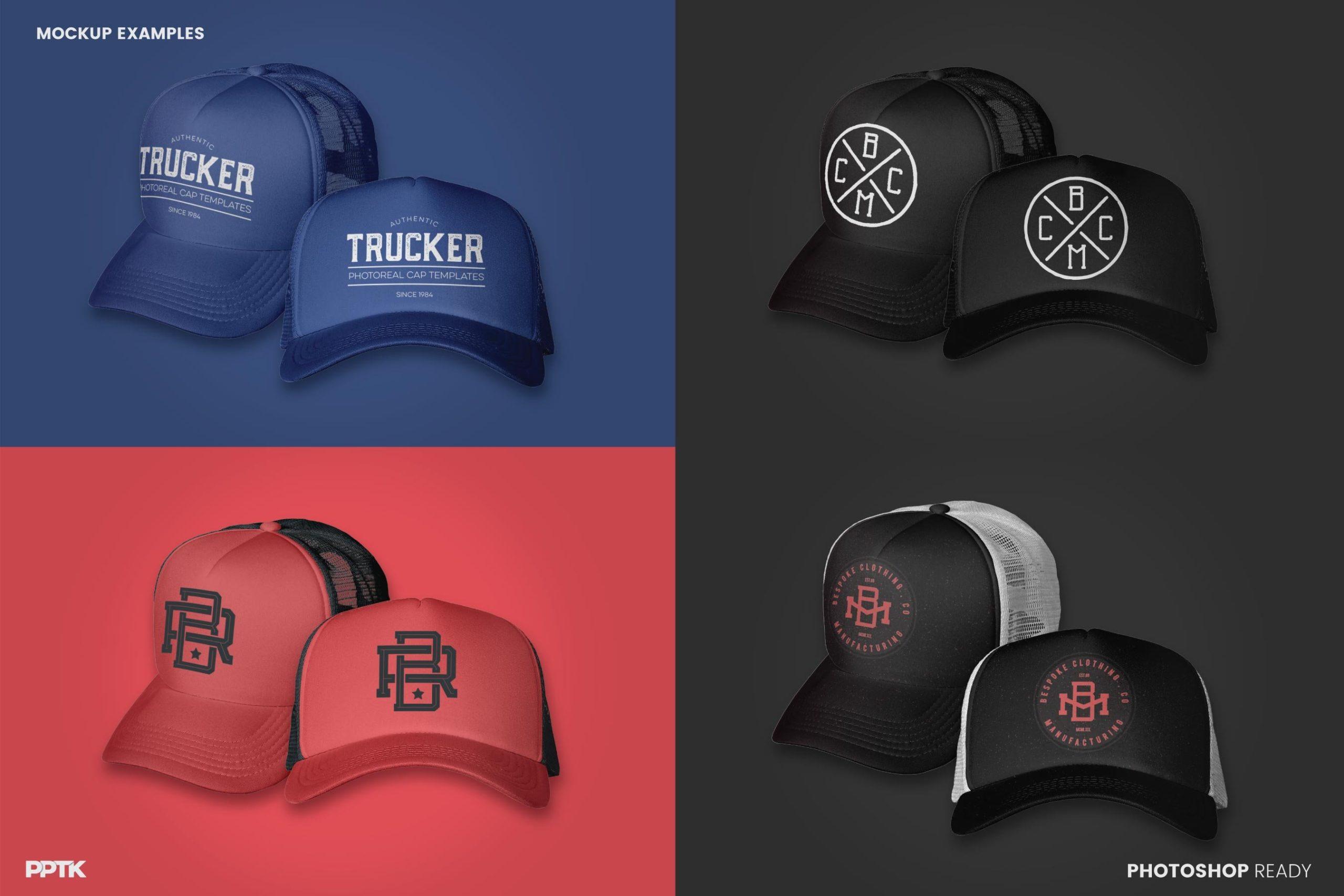 examples of trucker hat mockup