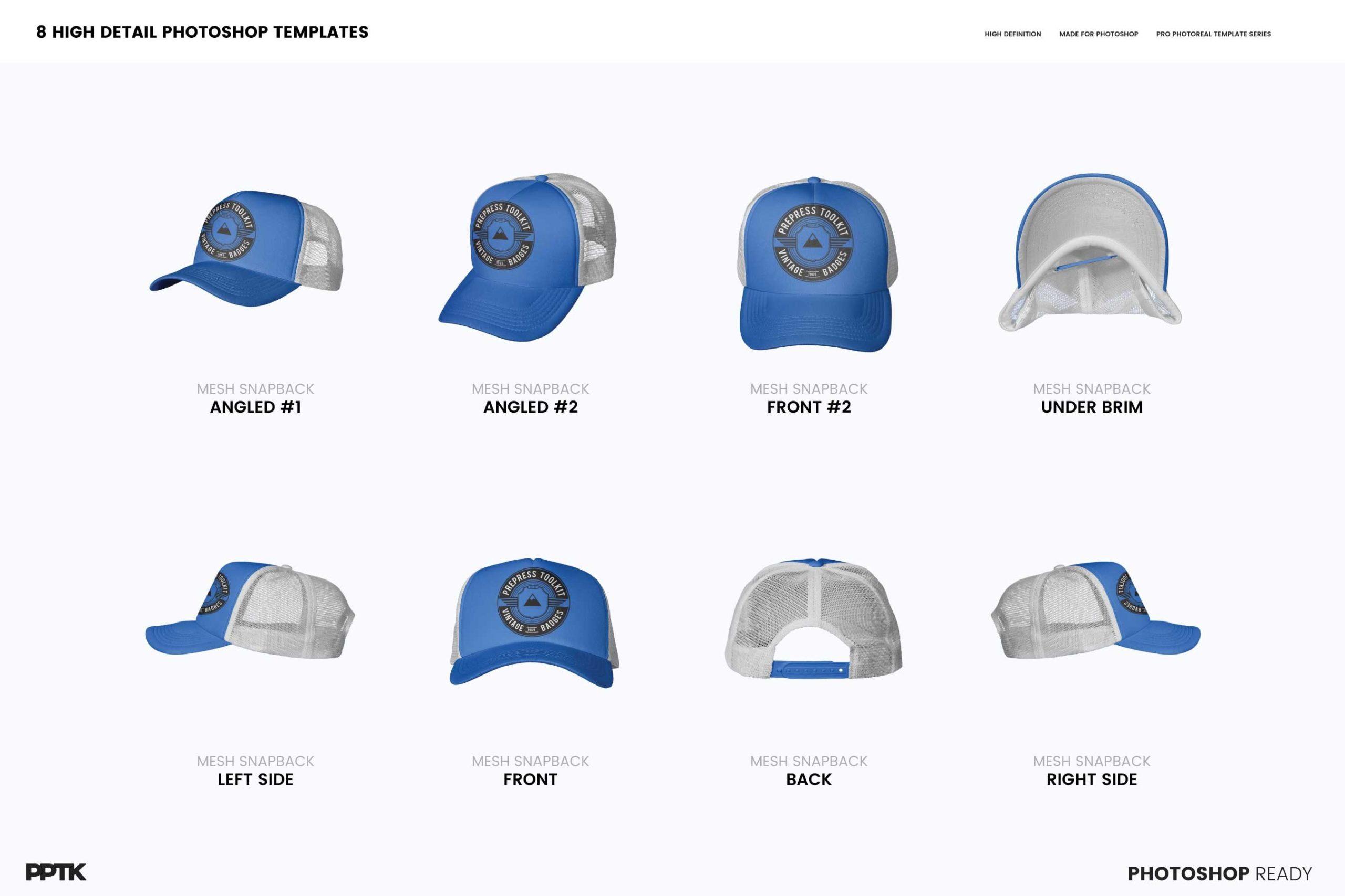 trucker hat mockup features