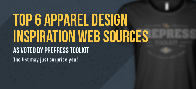 Top 6 design inspiration web sources for apparel graphic design