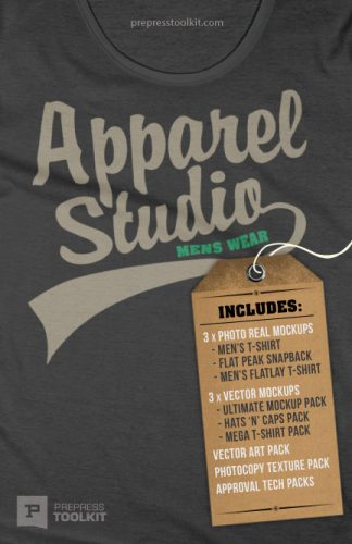Apparel Design Studio Bundle T-shirt Templates