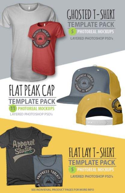 Apparel design Studio t-shirt template pack