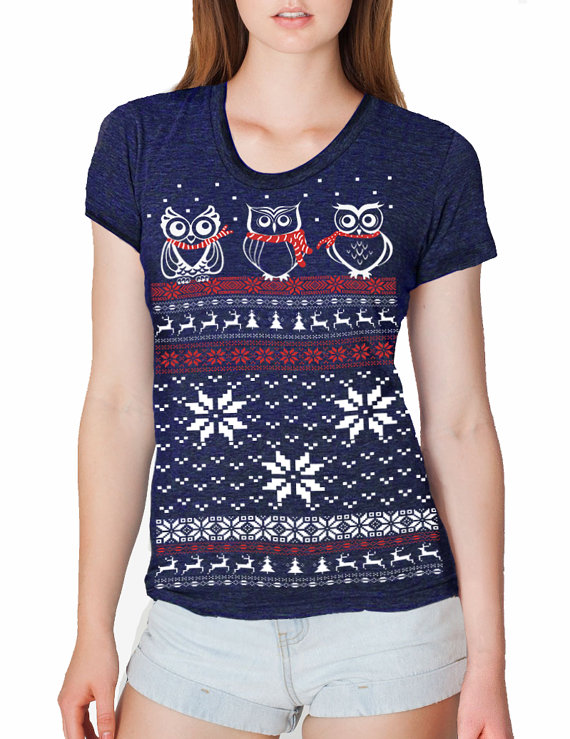 Ugly Christmas Sweater Owl design