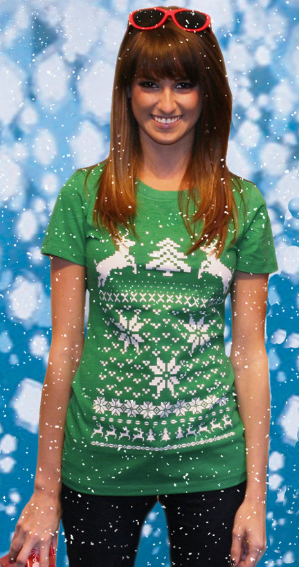 Ugly christmas sweater t-shirt design