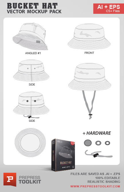 Bucket Hat Vector Mockup Pack