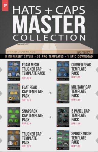 Hats cap master collection snapback flatpeak 5 panel trucket