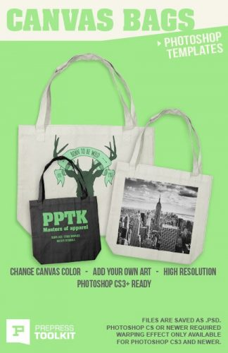 canvas bag tote photoshop template