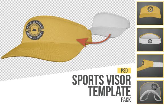 sports visor cap hat template