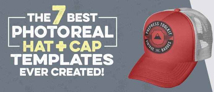 The Best 7 Photo Real Hat and Cap Templates Ever Created!