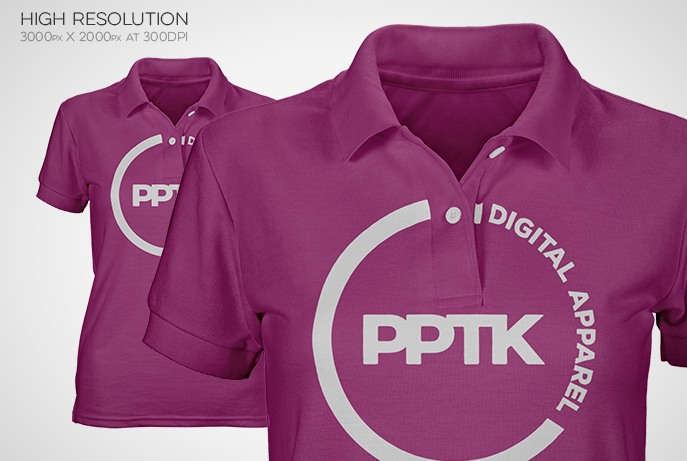 high resolution polo shirt template clothing mockup